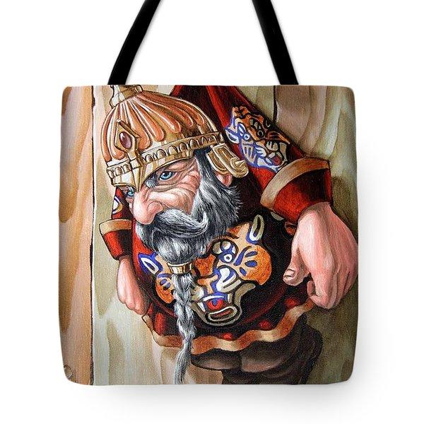 Captive Dwarf In Tiger Suit Tote Bag