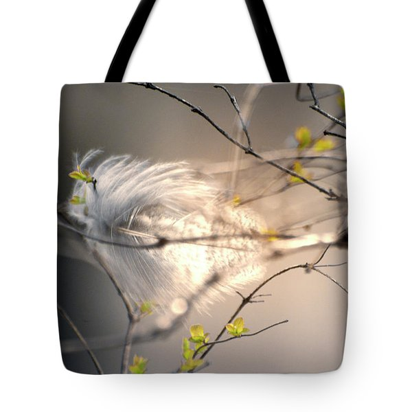 Captured Small Feather Tote Bag