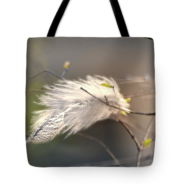Captured Small Feather_04 Tote Bag