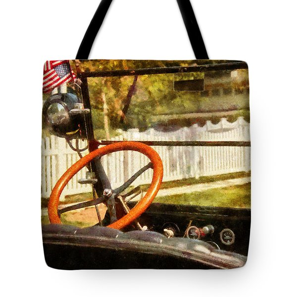 Car - Back To The Old Days Tote Bag by Mike Savad