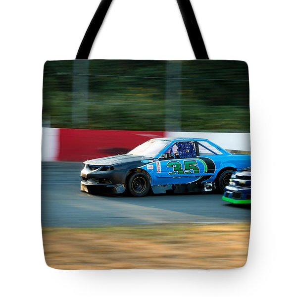 Car 35 Passing 26 Tote Bag