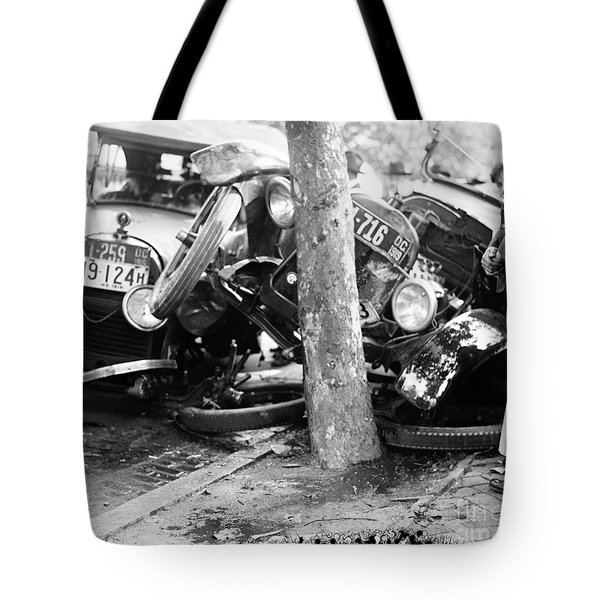 Car Accident, C1919 Tote Bag by Granger