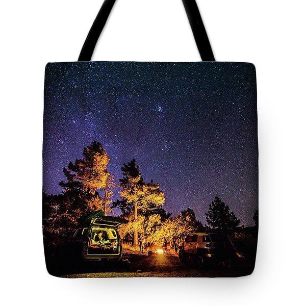 Car Camping Tote Bag
