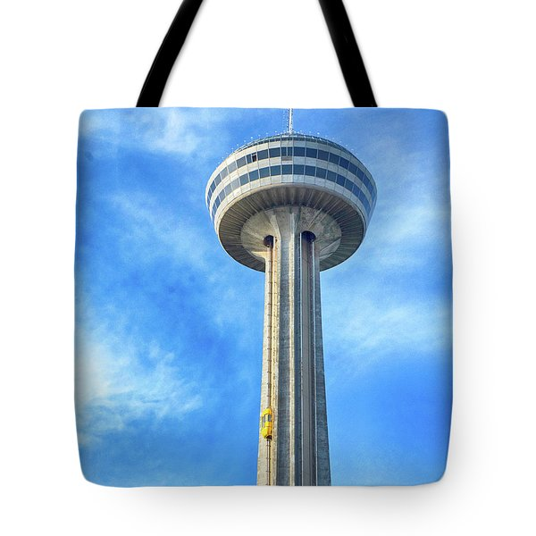 Car On Skylon Tower Tote Bag