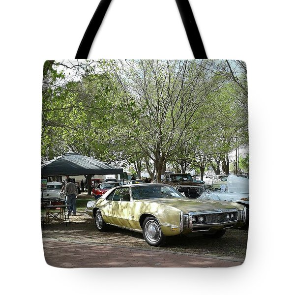 Tote Bag featuring the pyrography Car Show Saturday by Jack Pumphrey