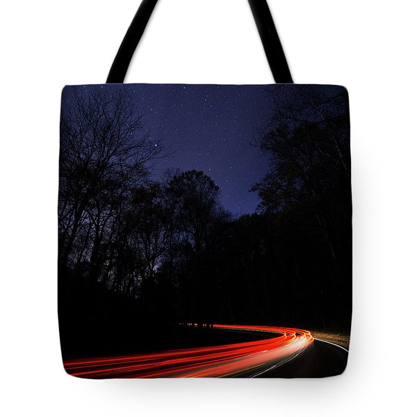 Car Trails Tote Bag