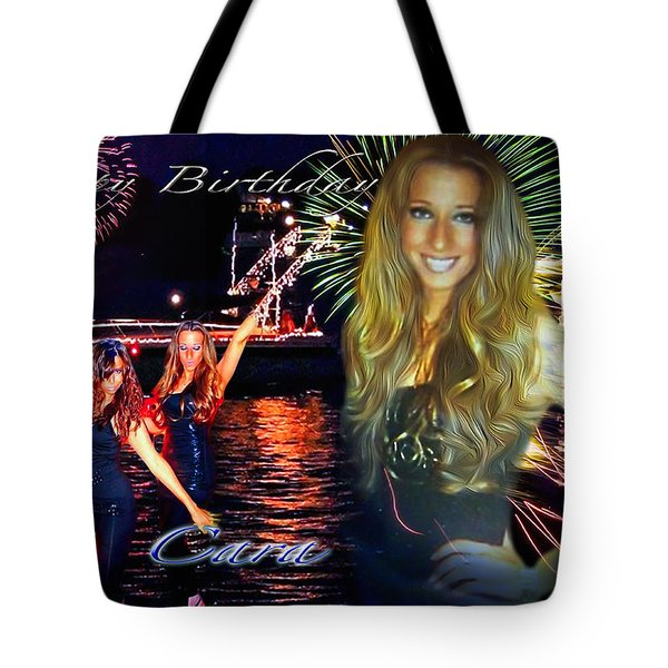 Tote Bag featuring the photograph Cara Earth Angels Birthday by Glenn Feron