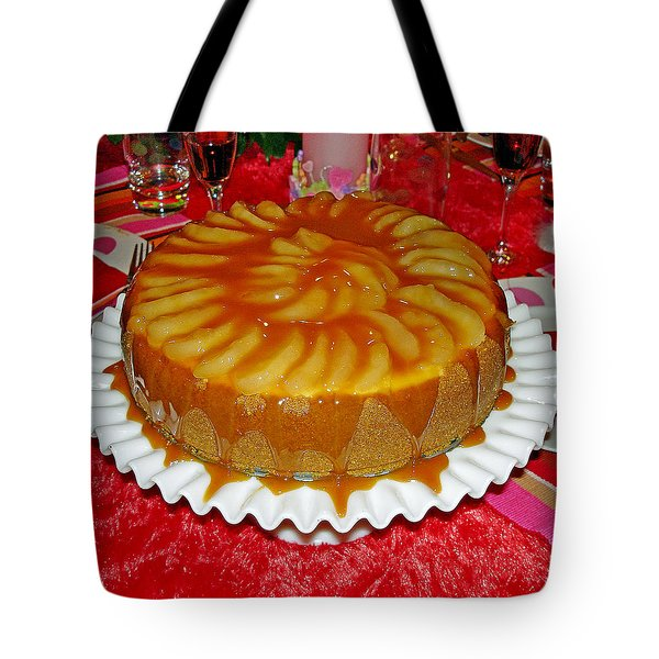 Caramel Apple Cheesecake Valentine Tote Bag