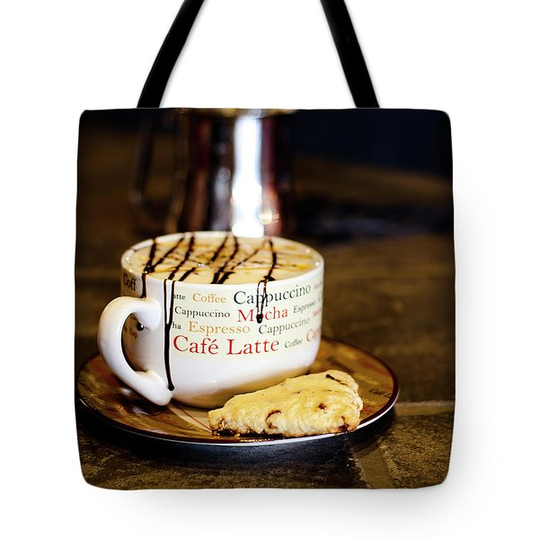 Caramel Macchiato With Scone Tote Bag