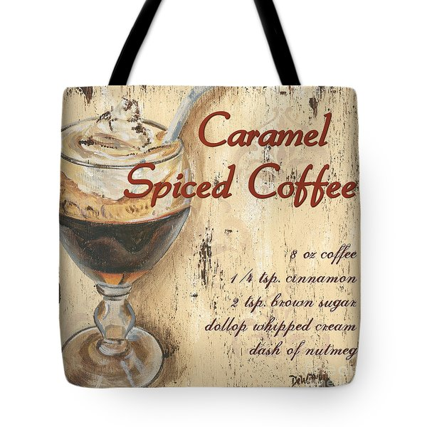Caramel Spiced Coffee Tote Bag by Debbie DeWitt