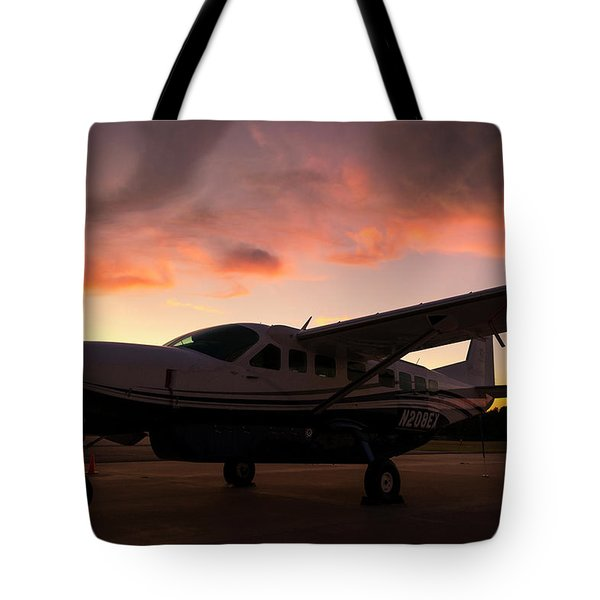 Caravan On The Ramp In The Sunset Tote Bag