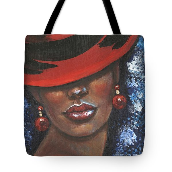 Tote Bag featuring the painting Carbaret Red by Alga Washington