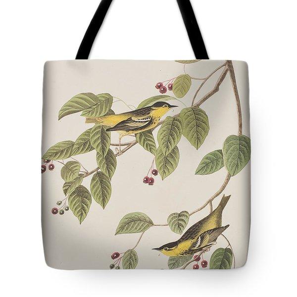 Carbonated Warbler Tote Bag by John James Audubon