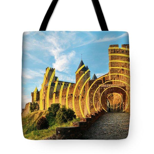 Carcassonne's Citadel, France Tote Bag