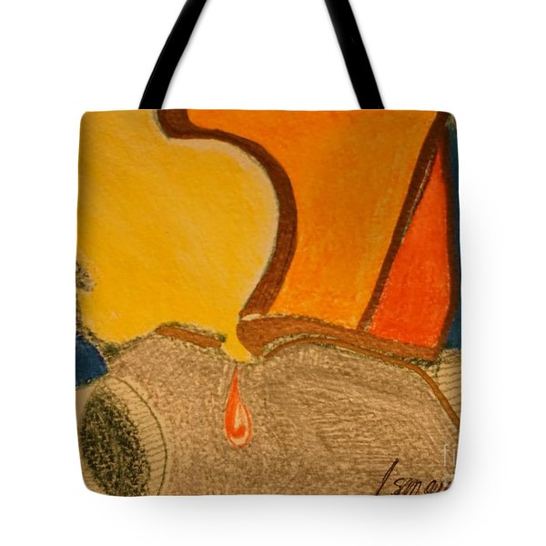 Tote Bag featuring the drawing Card 1 by Rod Ismay