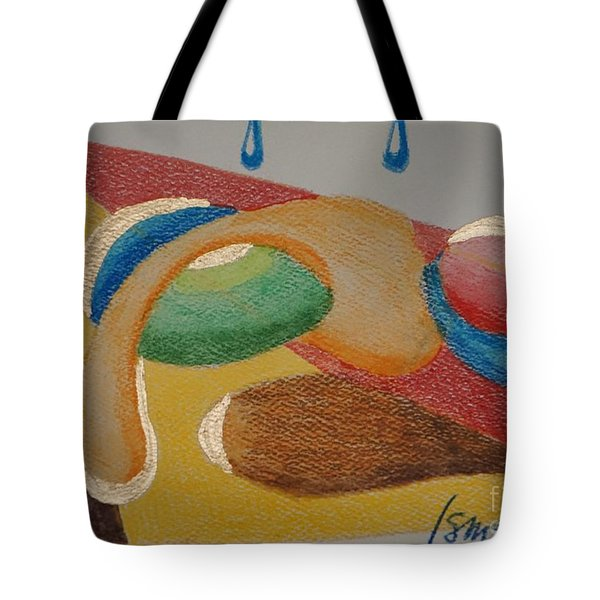 Tote Bag featuring the drawing Card 4 by Rod Ismay