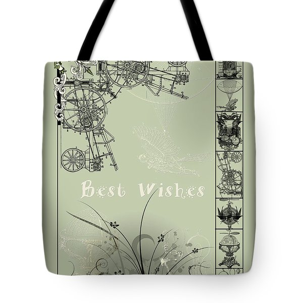 Card Best Wishes Tote Bag