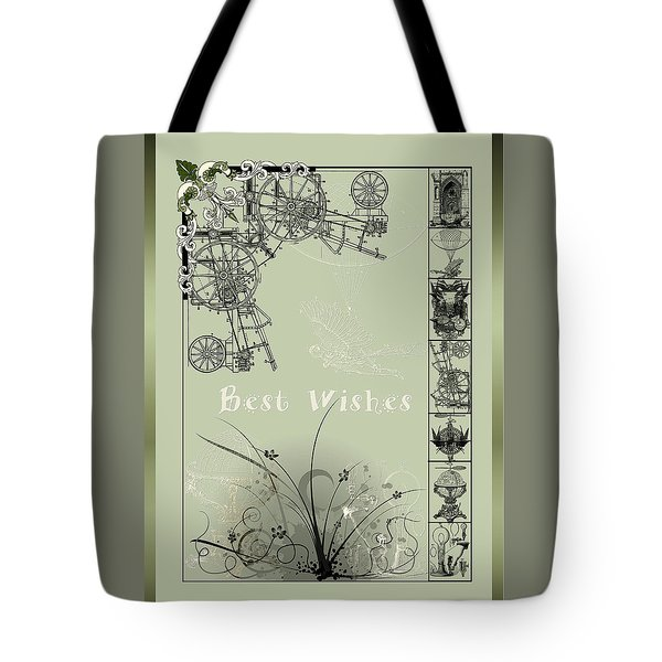 Card Best Wishes Tote Bag by Robert G Kernodle