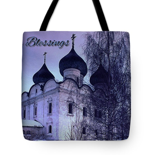 Card Easter Blesssings Tote Bag by Robert G Kernodle