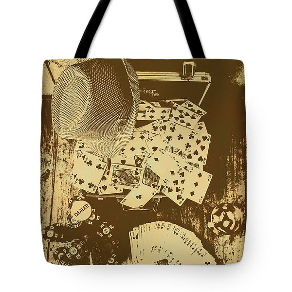 Card Games And Vintage Bets Tote Bag