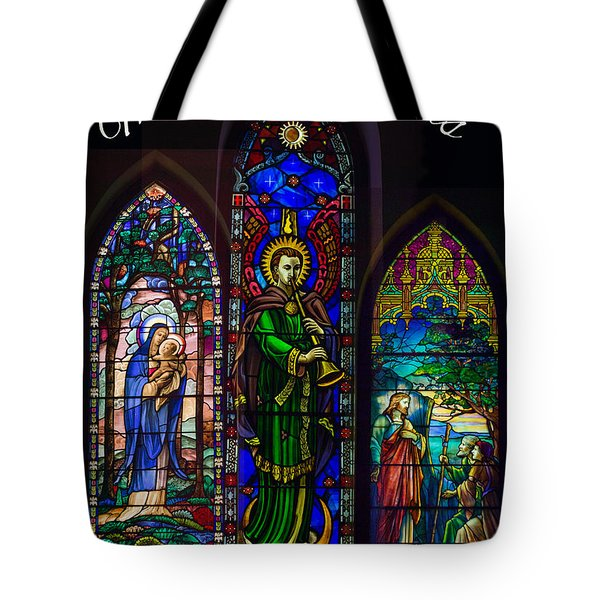 Card Merry Christmas Tote Bag