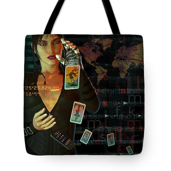 Tote Bag featuring the digital art Card Reader by Shadowlea Is