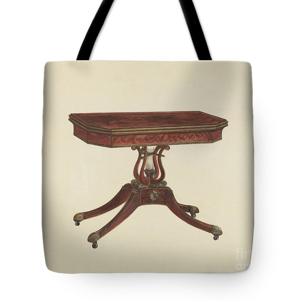 Card Table Tote Bag