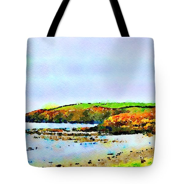 Tote Bag featuring the painting Cardigan Bay by Angela Treat Lyon
