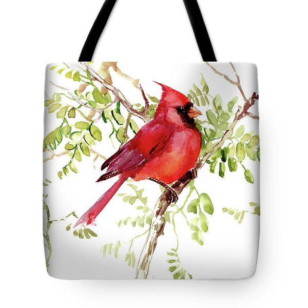 Cardinal Bird Tote Bag