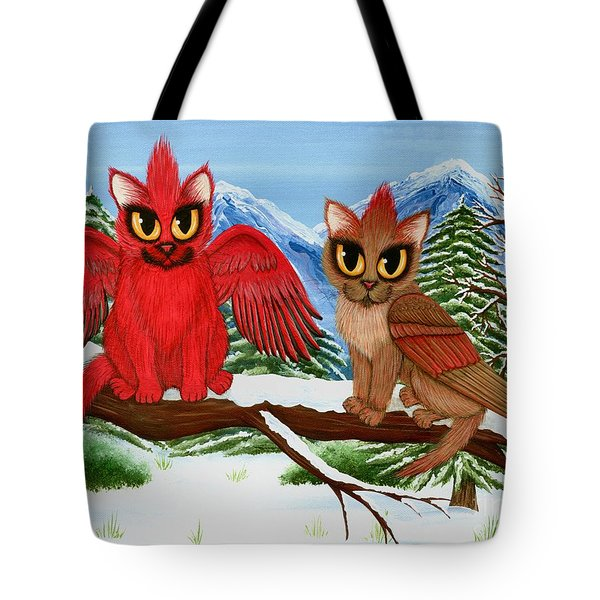 Cardinal Cats Tote Bag