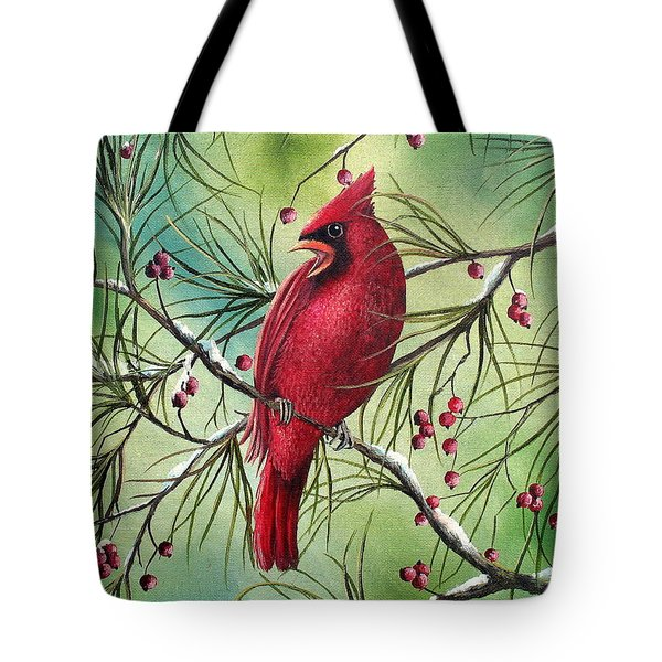 Cardinal Tote Bag by David G Paul