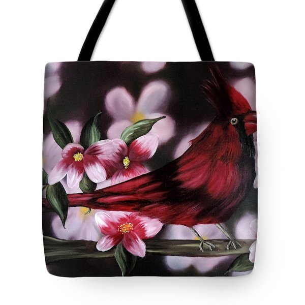 Cardinal Tote Bag by Dianna Lewis