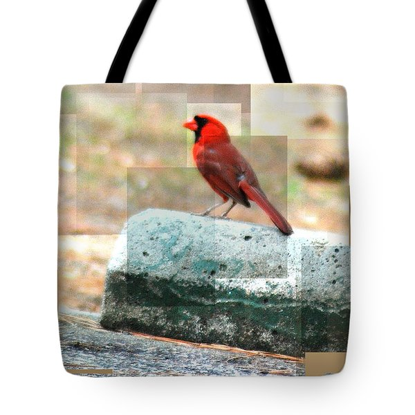 Tote Bag featuring the photograph Cardinal by Donna Bentley