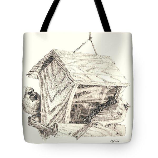Cardinal Feeder Tote Bag