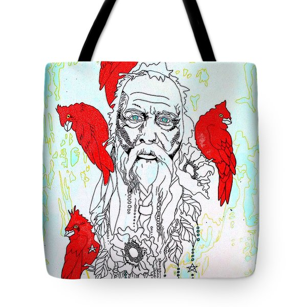 Cardinal Frost Tote Bag