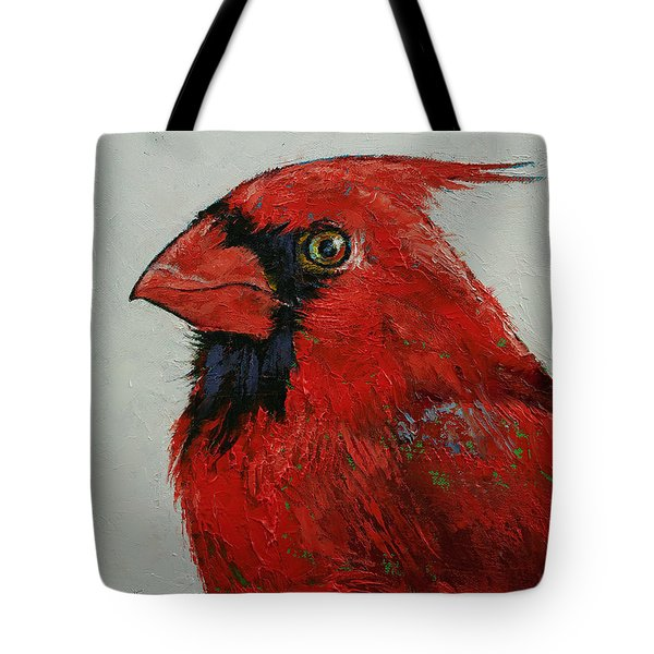 Cardinal Tote Bag by Michael Creese