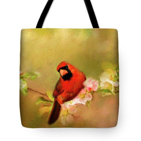 Cardinal Of Spring Tote Bag