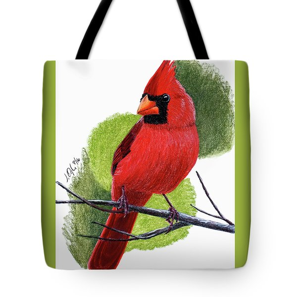 Tote Bag featuring the painting Cardinal1 by Joseph Ogle