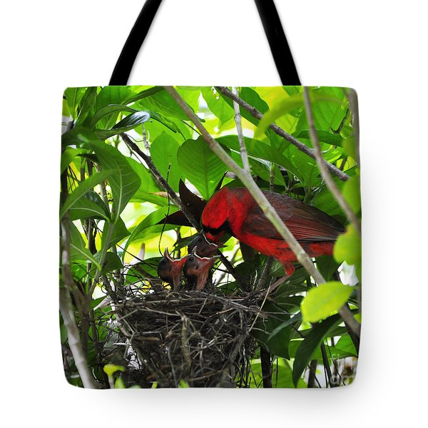 Cardinals Chowtime Tote Bag