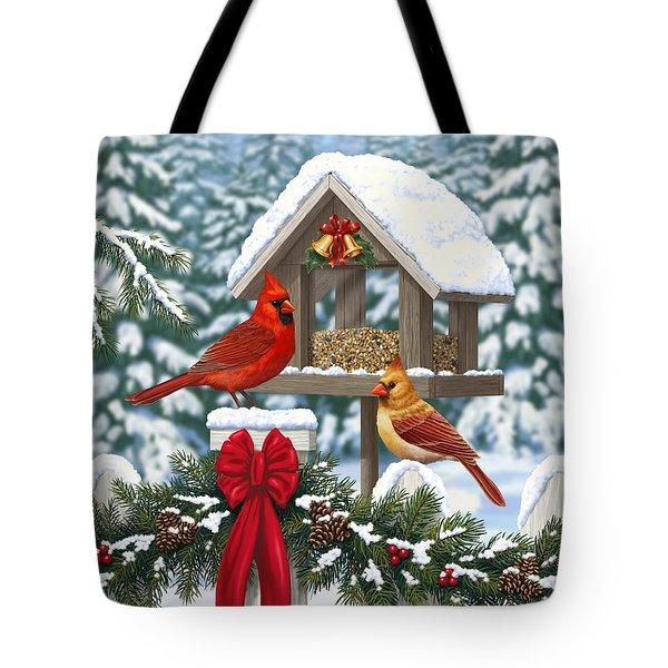 Cardinals Christmas Feast Tote Bag