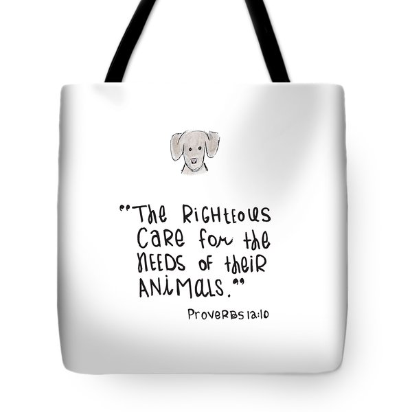 Care For Animals Tote Bag