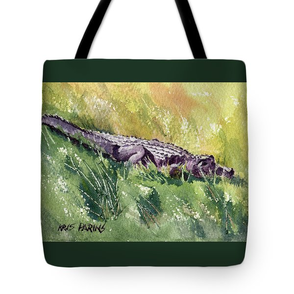 Tote Bag featuring the painting Carefree Carnivore by Kris Parins