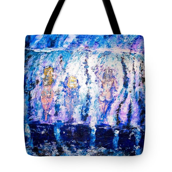 Tote Bag featuring the painting Carefree by Piety Dsilva