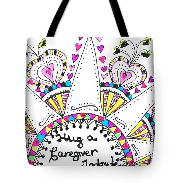 Caregiver Crown Of Hearts Tote Bag