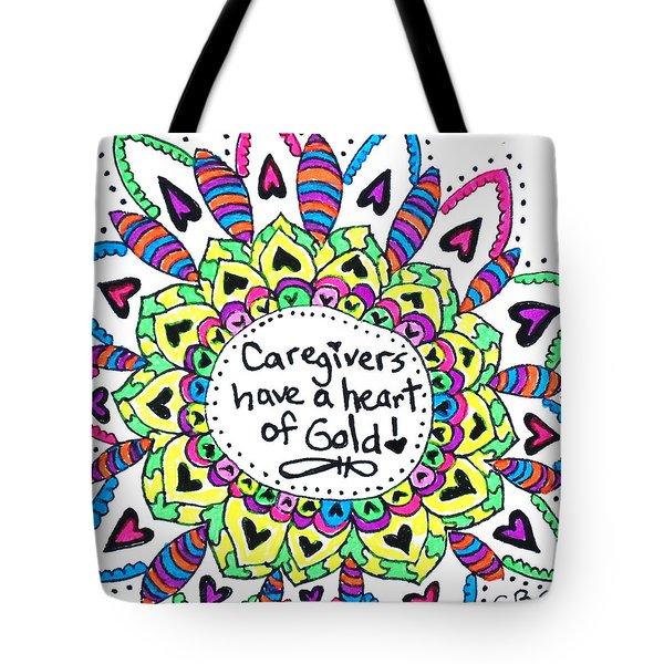 Caregiver Flower Tote Bag