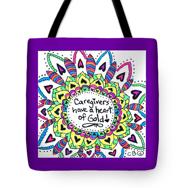 Caregiver Flower Tote Bag by Carole Brecht
