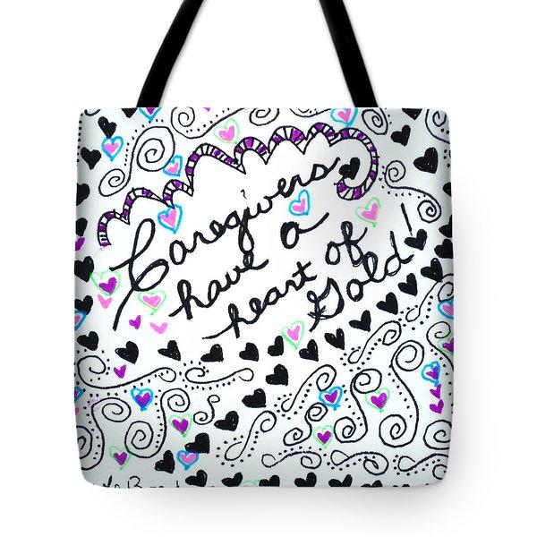 Caregiver Hearts Tote Bag