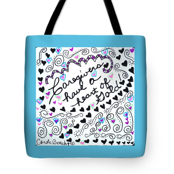 Caregiver Hearts Tote Bag