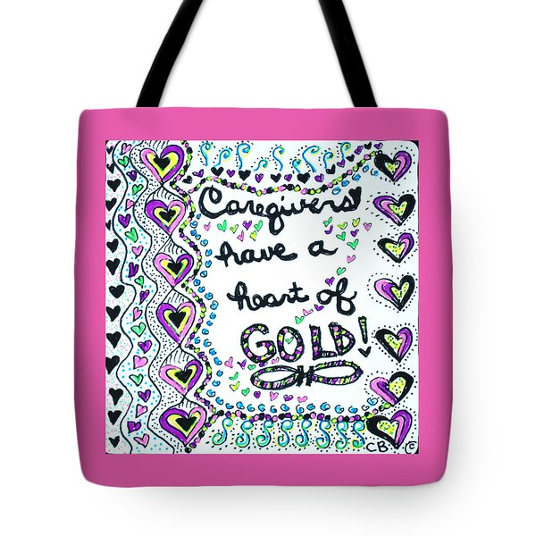 Caregiver Joy Tote Bag by Carole Brecht
