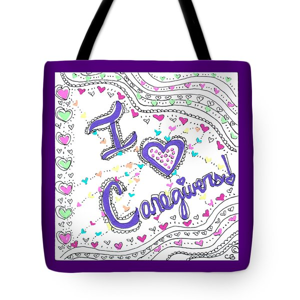 Caring Heart Tote Bag